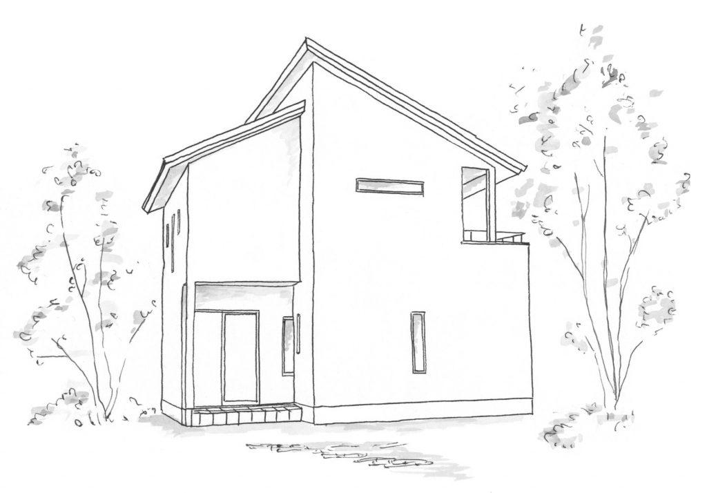 2020年5月の構造見学会会場の完成予定図
