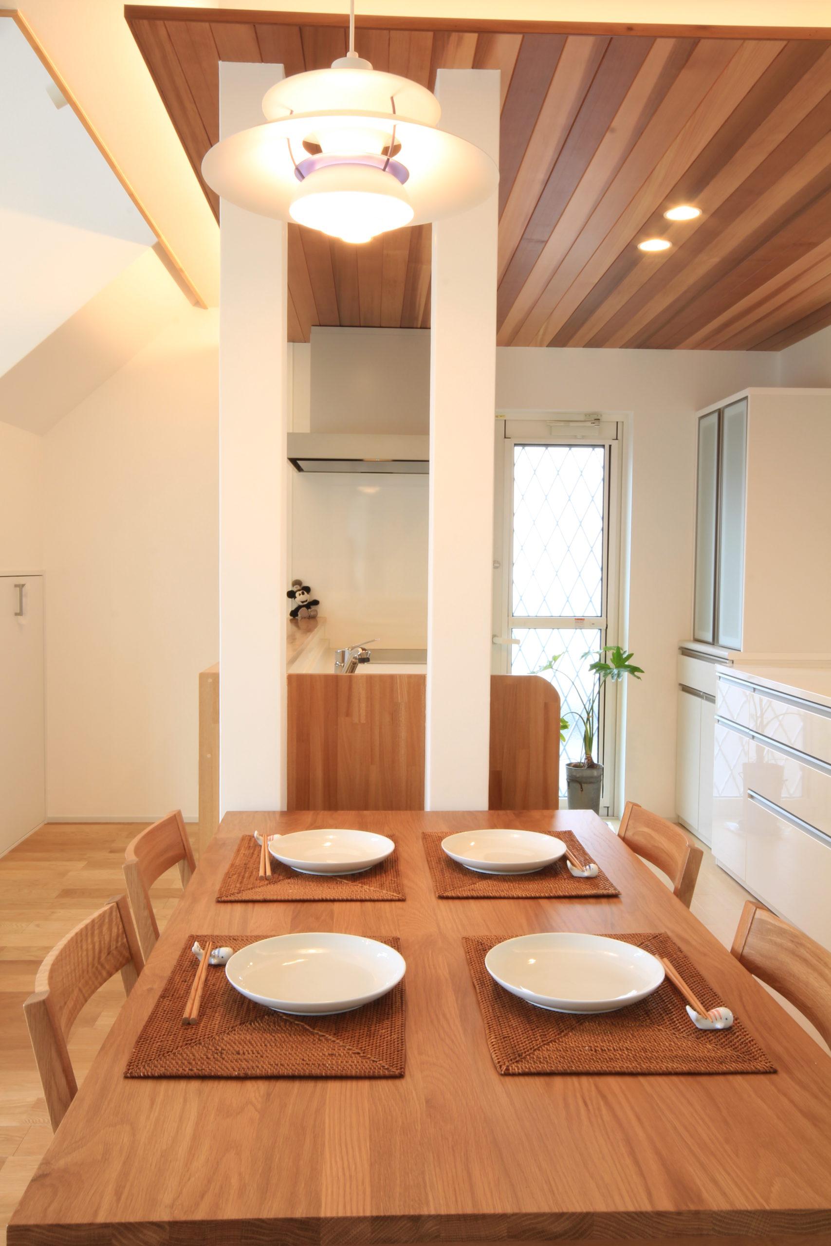 栃木県上三川の耐震住宅施工事例H邸のダイニング
