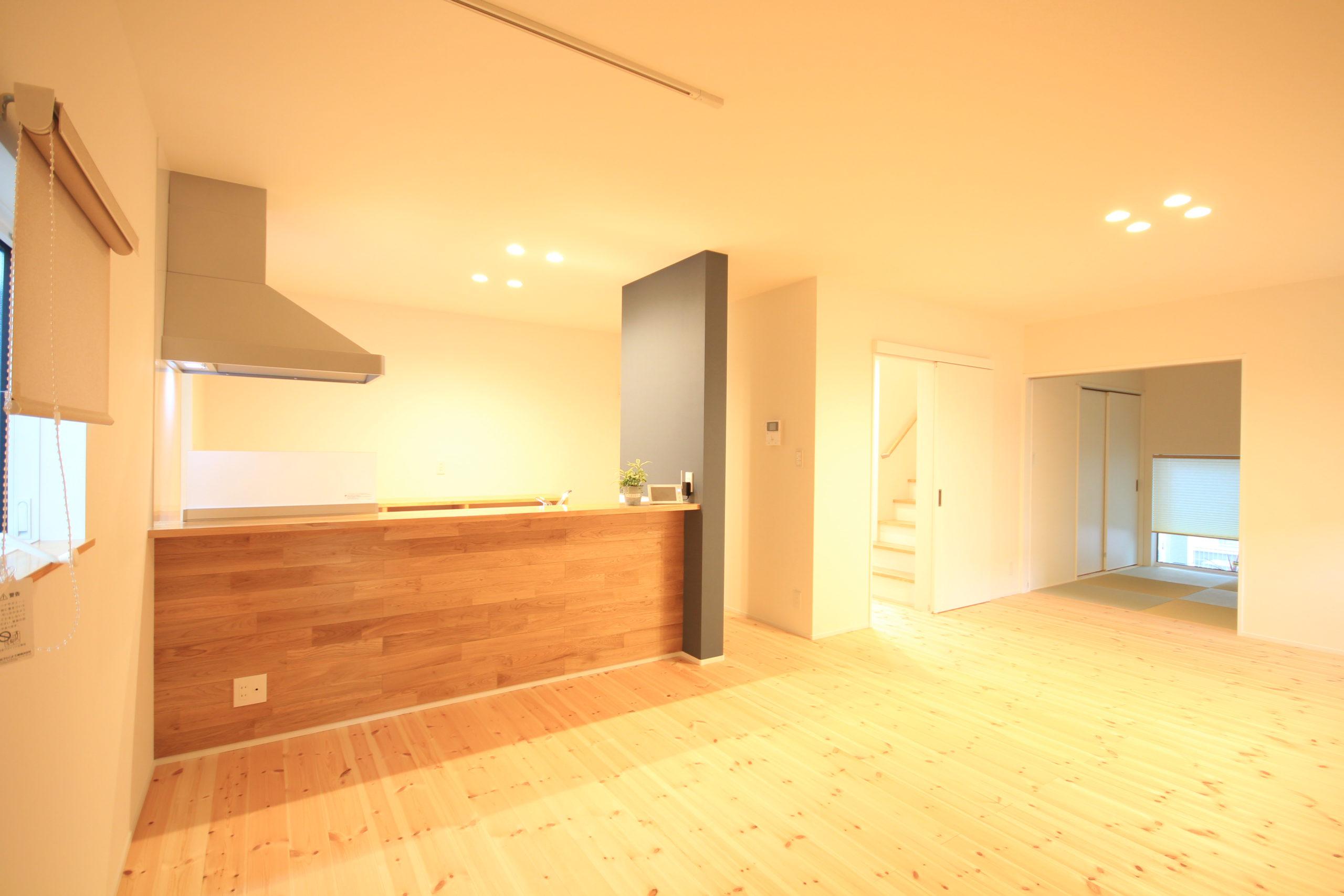 栃木県上三川の耐震住宅施工事例K邸のキッチン