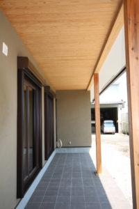 栃木県上三川の耐震住宅施工事例M邸のバルコニー