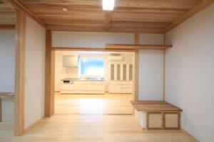 栃木県上三川の耐震住宅施工事例M邸のキッチン
