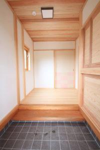 栃木県上三川の耐震住宅施工事例M邸の玄関
